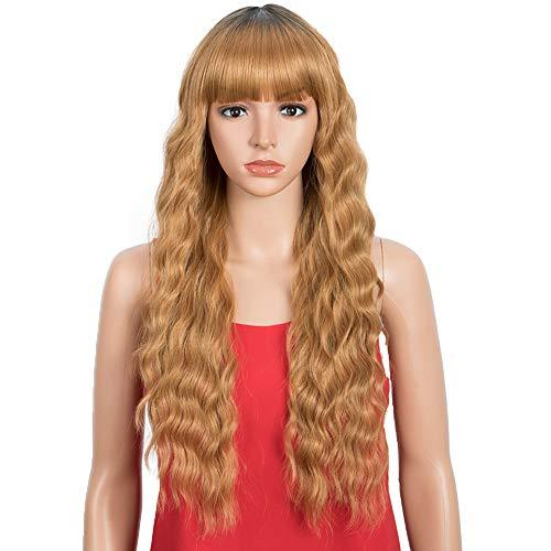 Wig - Wavy Hair Wig With Bangs