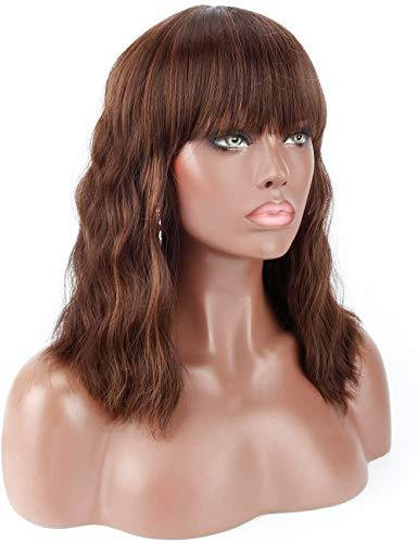 Wig - Wavy Mid Length Heat Resistant Wavy Wig With Bangs