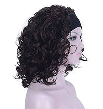Load image into Gallery viewer, Wigs - Curly Chestnut Brown Headband Wig