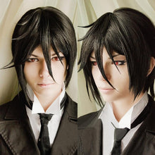 Load image into Gallery viewer, Wigs - Kuroshitsuji Black Butler Sebastian Michaelis