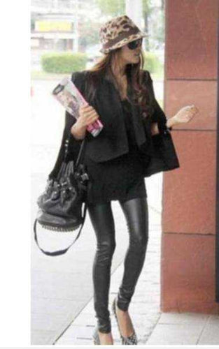 Women's Clothing - Leggings Pleather