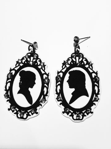Han and Leia Silhouette Earrings
