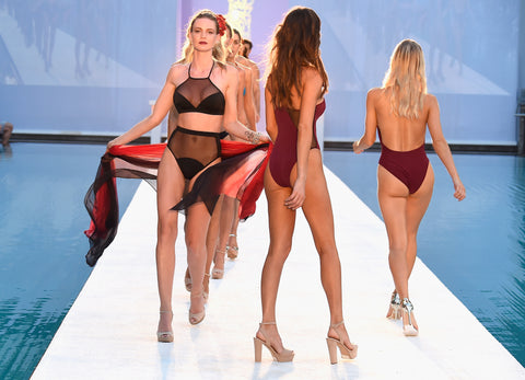 Models walk the runway at Filthy Haanz 2017 Collection during SwimMiami
