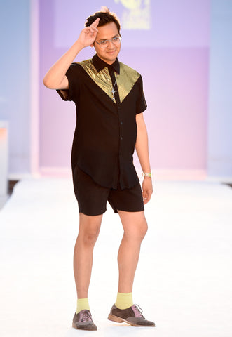 Filthy Haanz Creative Director Wilber Tellez walks the runway