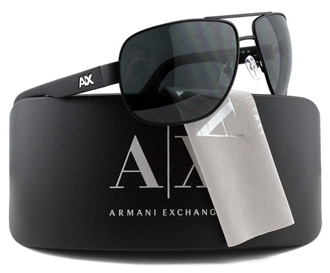 Armani Exchange AX2012S Sunglasses Black w/Grey (6063/87) AX 2012S 606387 62mm Authentic