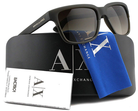 Armani Exchange AX4026S Sunglasses Matte Brown w/Brown Gradient (8121/13) AX 4026S 812113 56mm Authentic