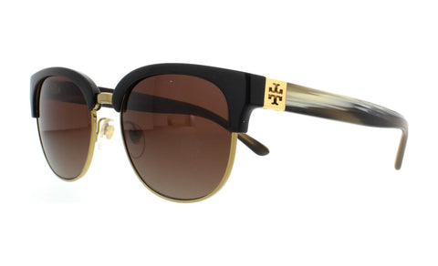 Tory Burch Women's TY9047 Black/Olive Horn 52Mm Polarized Sunglasses