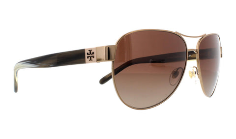 Tory Burch TY6051 Sunglasses 3198T5 - Gold/Black Frame, Dark Brown Gradient 60