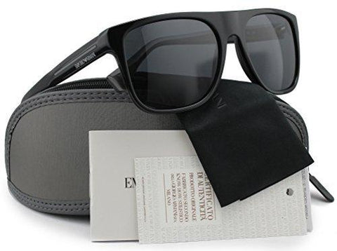 Emporio Armani EA4014 Polarized Sunglasses Top Black on Grey w/Crystal Grey (5102/81) EA 4014 510281 56mm Authentic