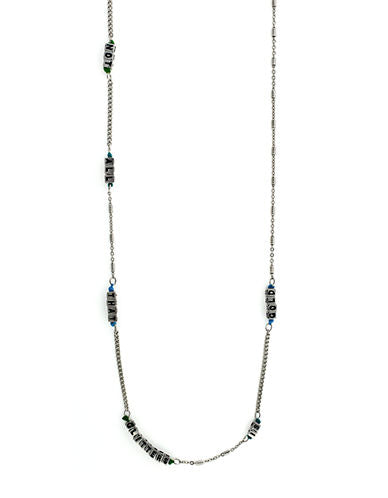 BCBGeneration 'Not All That Glitters Is Gold' Silver-Tone Necklace