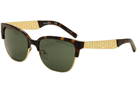 Tory Burch Women's TY6032 Sunglasses tortoise/ Gold grey lenses