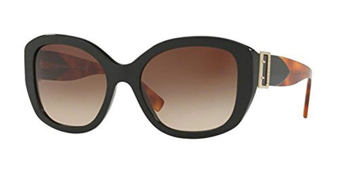 Burberry Women's BE4248F Sunglasses Tortoise Black