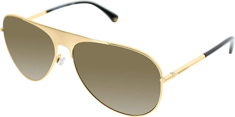 Emporio Armani,Mens Sunglasses Gold/Brown Metal - Non-Polarized - 59mm