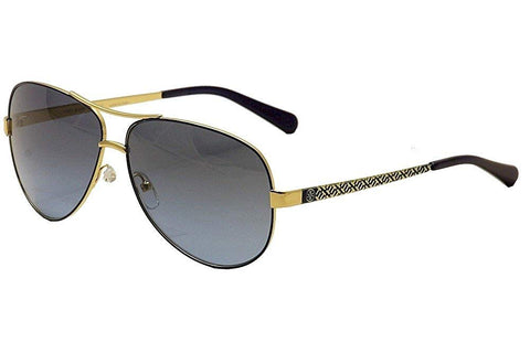 Tory Burch TY 6035 Sunglasses Navy Gold / Navy Gradient