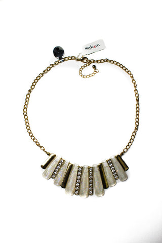 Style & co. White Pave Sticks necklace