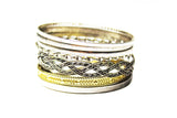 Style &co. Mixed Metal Multi Bangle bracelet set