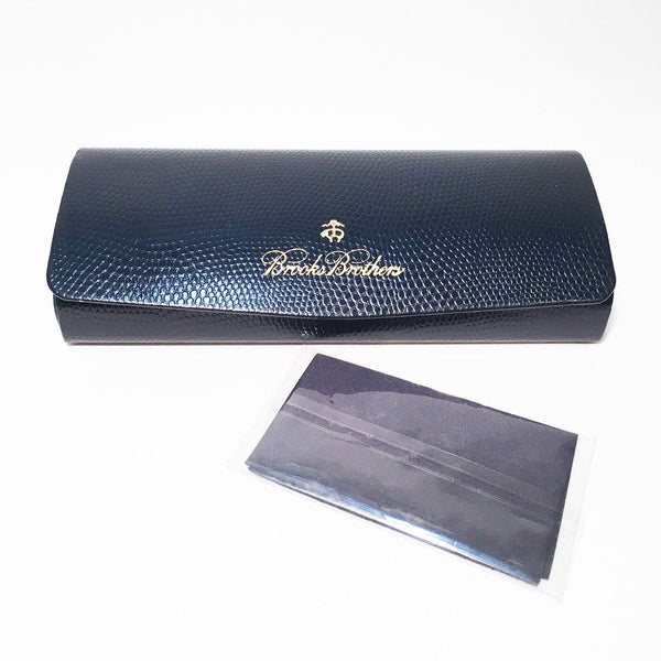 Brooks Brothers Navy Blue Faux Snakeskin Sunglasses Glasses Hard Protective Case