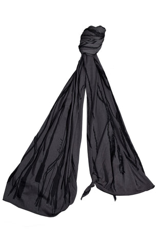 Diesel Extra Long Charcoal and Black Women's Scarf
