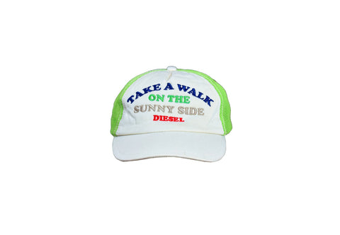 Diesel White and Green Unisex Baseball Cap