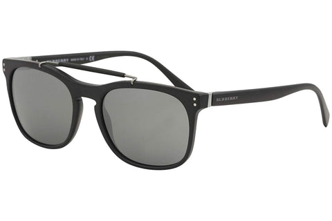 Burberry Mens BE4244 sunglasses matte black/ mirrored