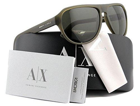 Armani Exchange AX4028S Sunglasses Matte Blue w/Crystal Grey (8133/73) AX 4028S 813373 60mm Authentic