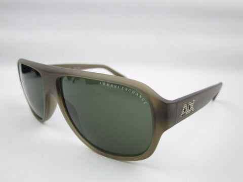 Armani Exchange AX4005 Sunglasses-802671 Olive (Dark Green Solid Lens)-58mm