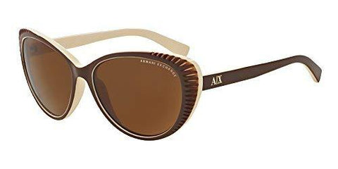 Exchange Armani Sunglasses AX4013 805873 Brown/Cream Brown Solid 59 16 140