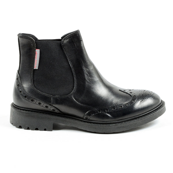 Andrew Charles Mens Ankle Boot Black BOB