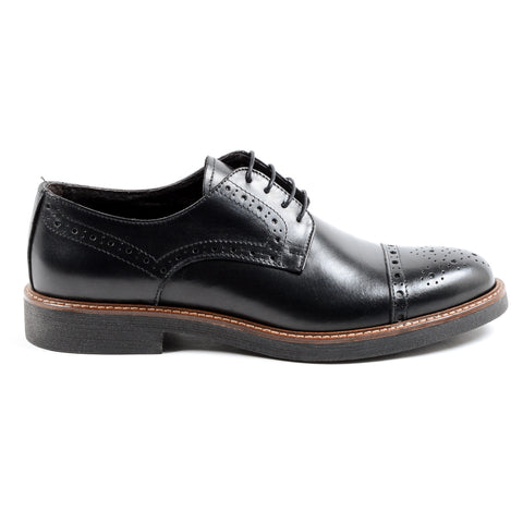 Andrew Charles Mens Brogue Shoe Black LOU