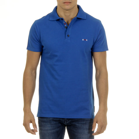 Andrew Charles Mens Polo Short Sleeves Blue SEFU