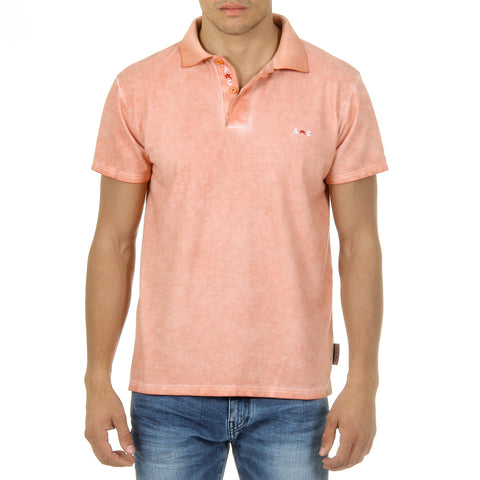 Andrew Charles Mens Polo Short Sleeves Orange SIMBA