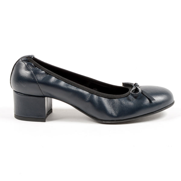 Andrew Charles Womens Ballerina Dark Blue NICKI