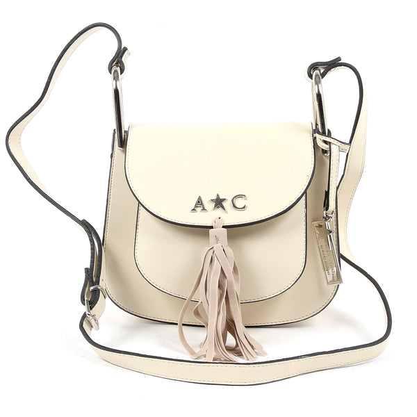 Andrew Charles Womens Handbag Beige JOURNEY