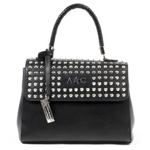 Andrew Charles Womens Handbag Black BROOKLYN