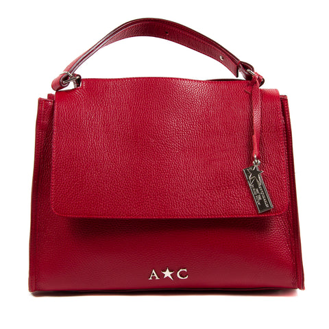 Andrew Charles Womens Handbag Red GIADA