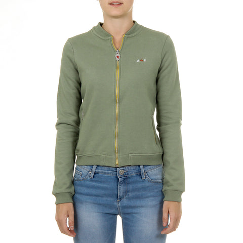 Andrew Charles Womens Sweater Long Sleeves Green SUMATRA