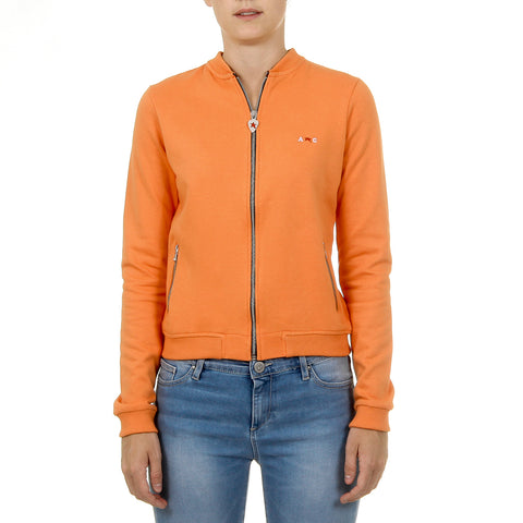 Andrew Charles Womens Sweater Long Sleeves Orange SUMATRA