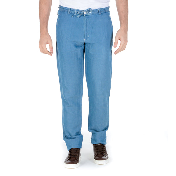 Armani Collezioni Mens Pants Light Blue