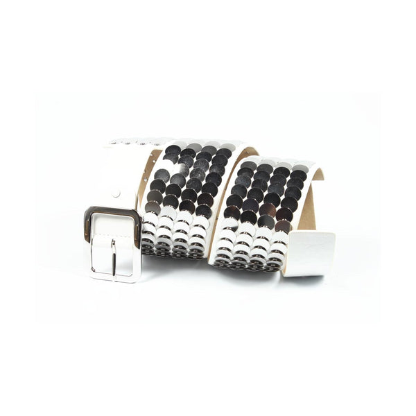 Cafenoir ladies belt AJ01R 369 WHITE