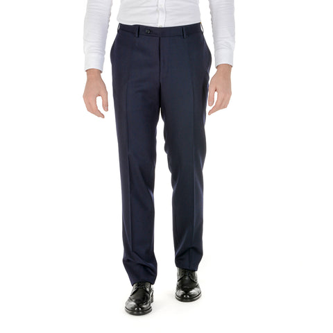 Canali Mens Pants Dark Blue