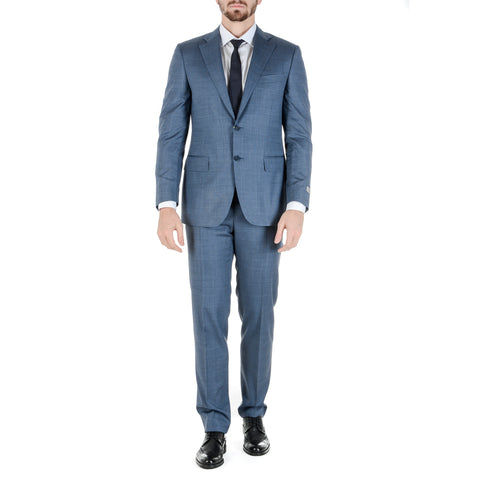 Canali Mens Suit Long Sleeves Light Blue