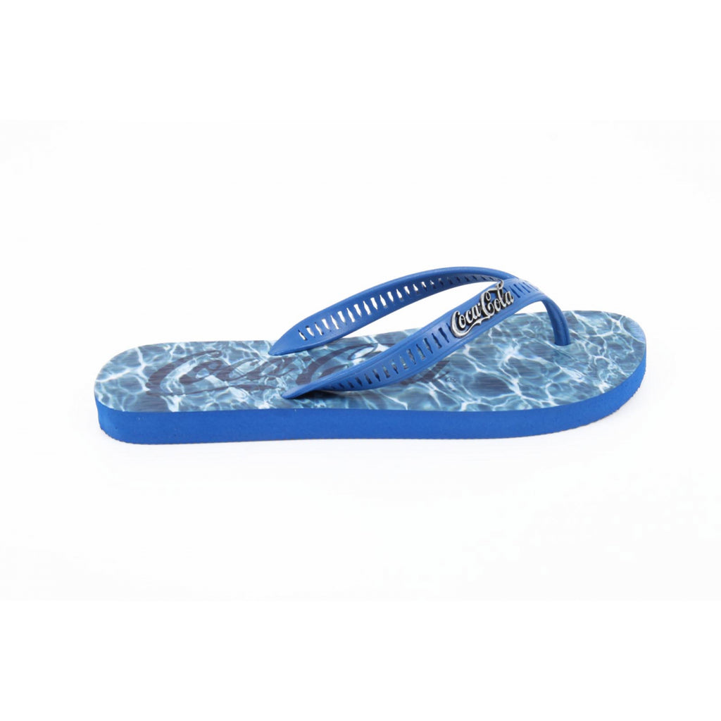 Coca Cola Shoes Men Thongs Blue - LeCITY
