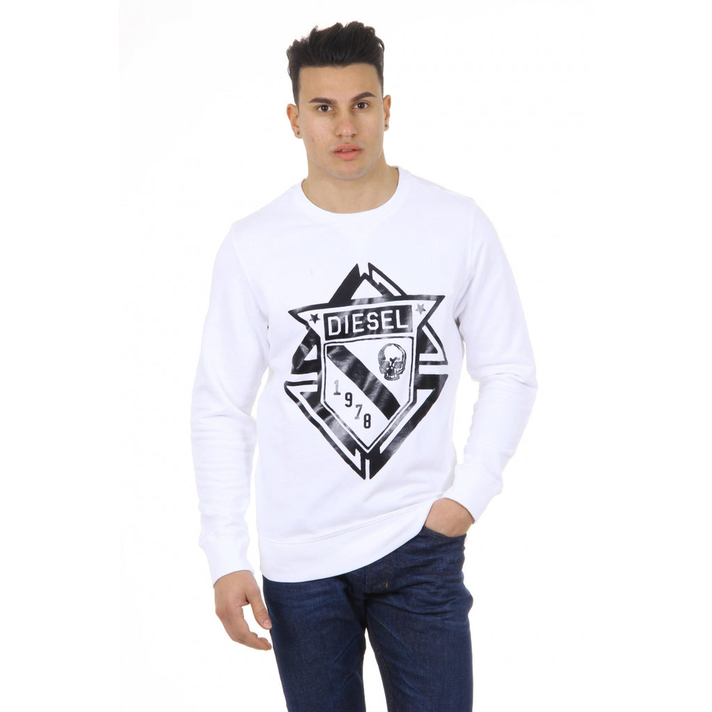 Diesel Men Sweaters White - LeCITY