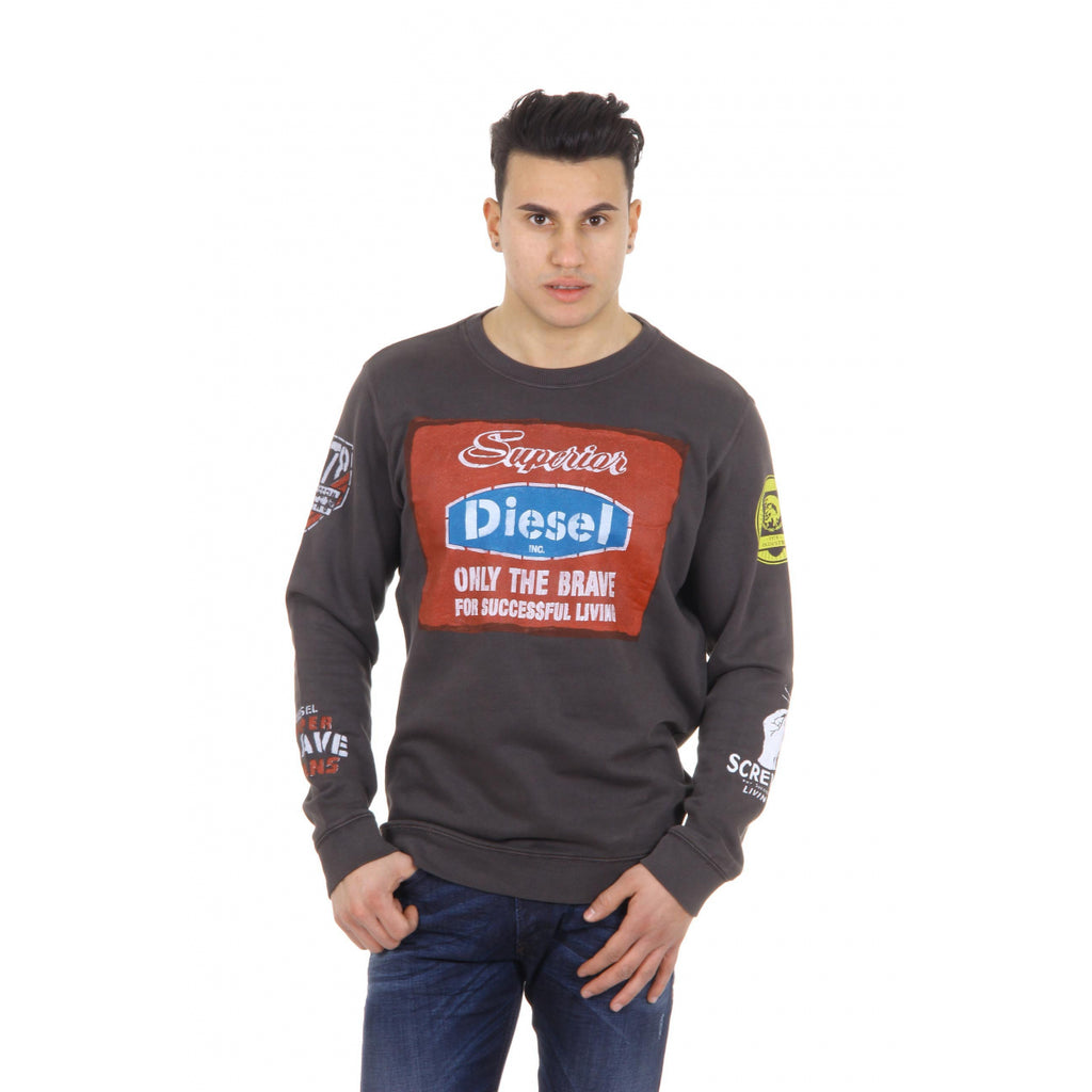 Diesel Men Sweaters Brown - LeCITY
