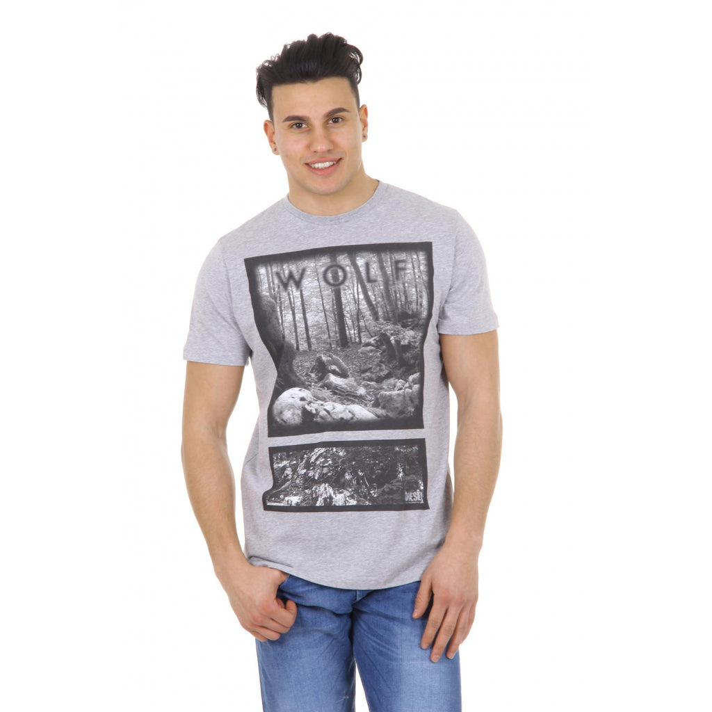 Diesel Men Tshirts Grey
