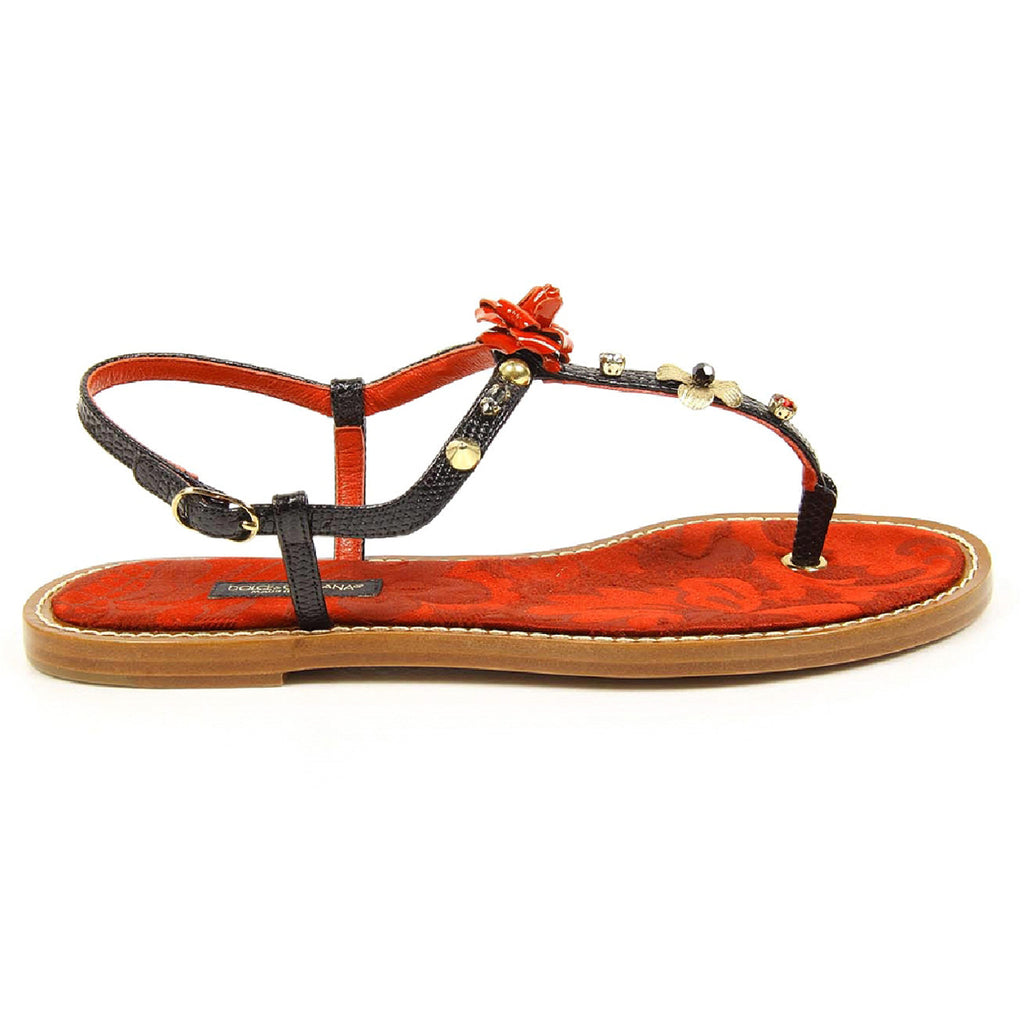 Dolce & Gabbana Shoes Women Thongs Red - LeCITY