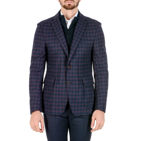 Giancarlo Sarto Mens Jacket Long Sleeves Dark Blue