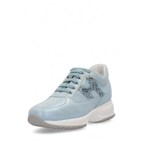 Hogan Womens Sneaker Light Blue Interactive HXW00N0G77077VOU008