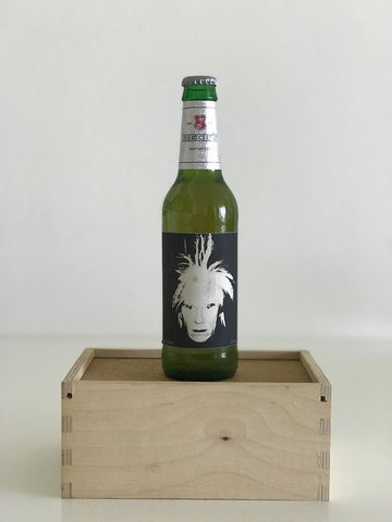 Andy Warhol 1980 Self-portrait Beck's Beer Bottle Limited Edition 2011