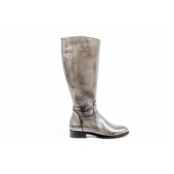 Kiton Womens High Boot D34801 4H5106 LUX GRIGIO